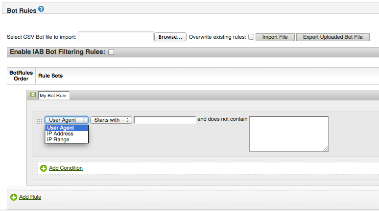 set up your bots and spiders for exclusion in sitecatalyst 15.3